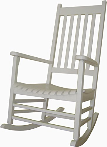 - International Concepts Porch Rocker in White Finish