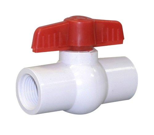 White Valterra 700-12F PVC Ball Valve 1//2 FPT 1//2 FPT Valterra Products