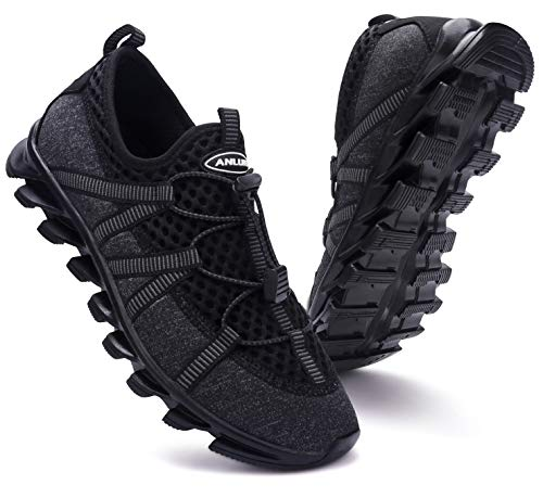 ANLUKE Mens Athletic Non Slip Running Shoes Gym Sport Woukout Tennis Walking Sneakers