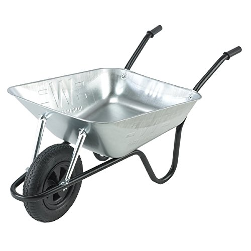 Walsall-Wheelbarrows-85-Ltr-Galvanized-Builders-Barrow-Wheelbarrow-in-a-Box-Pneumatic-Wheel