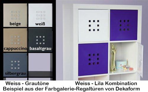 Dekaform IKEA Regal Expedit+Kallax Porte pour /étag/ère Cube avec nid dabeille Blanc