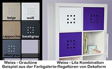 Forma deka diseño puerta para dados Regal Flexi para IKEA estantería Expedit + Nornas Kallax con * Blanco: Amazon.es: Hogar