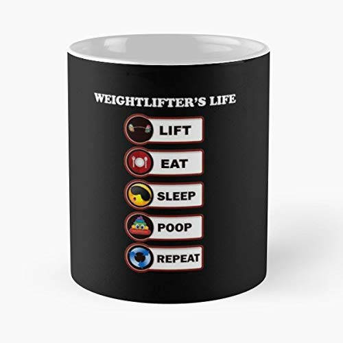 Weightlifters Gifts Costume Gym Fitness Muscles Strength Gift Coffee/tea Ceramic Mug 11 Oz]()
