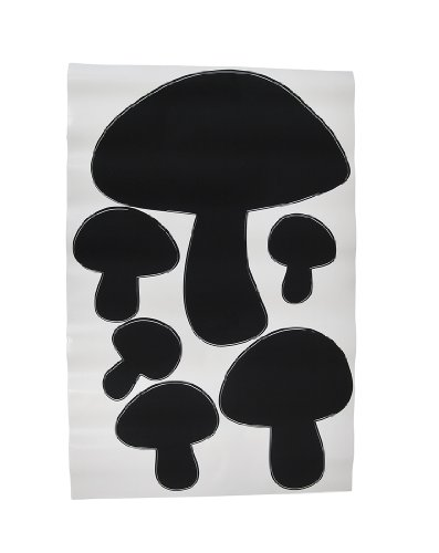 Children`s Chalkals Mushrooms Chalkboard Wall Decals