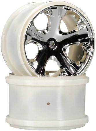 2 Traxxas 5577 Wheels All-Star 2.8 Nitro Front Chrome