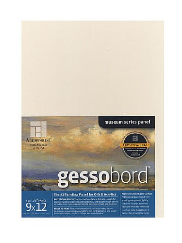 Ampersand Gessobord 9 in. x 12 in. 1/8 in. each [PACK OF 4 ] by Ampersand