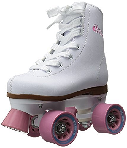 Chicago Girl's Classic Roller Skates – White Rink Skates - Size 1 by Chicago Skates