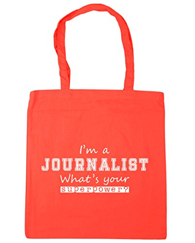 HippoWarehouse a Beach x38cm Your What's Journalist 42cm Superpower Bag Coral Shopping Gym Tote I'm 10 litres FqwFRxr4