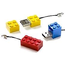 D-CLICK TM High Quality 4GB/8GB/16GB/32GB/64GB/Blocks Shape USB High speed Flash Memory Stick Pen Drive Disk (8GB, Red)