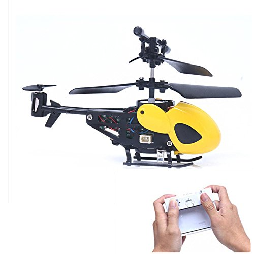 黄色 RC 5012 2CH ミニ ヘリコプター リモートコントロール 航空機 マイクロ 2チャンネル 飛行機 無毒の材料 夜間飛行可能  リモコン 超頑丈 飛行器 おもちゃ 子供用/大人用 (黄色  RC 5012 2CH ミニ ヘリコプター)