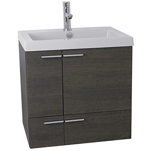 ACF ANS338 New Space Bathroom Vanity with Fitted Ceramic Sink Wall Mounted, 23