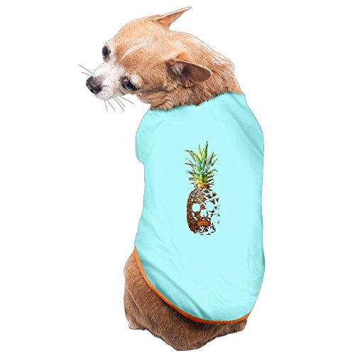 SkyBlue Pet Shirt,Soft Puppy Pet Vest Summer Sweatshirt Printed Dog Clothes Cute T Shirt For Dog SKULL PINEAPPLE M