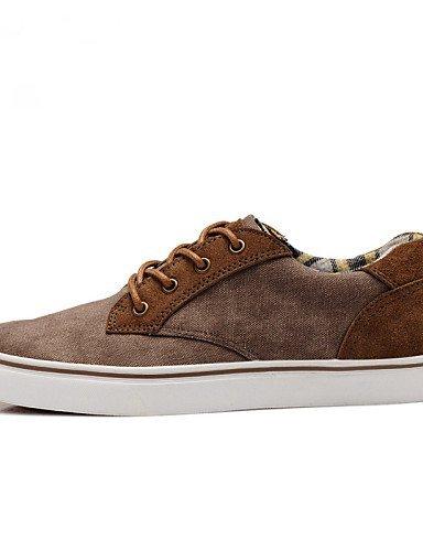 Ei&iLI Zapatos de Hombre Exterior/Casual/Deporte Tela Sneakers a la Moda Azul Marino/Caqui , khaki , us10 / eu43 / uk9 / cn44 Khaki