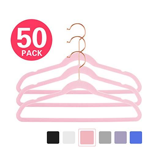 (MIZGI Premium Kids Velvet Hangers (Pack of 50) 14