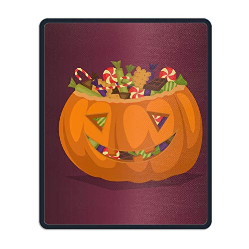 Mouse Mat,Personalized Non-Slip Mousepad for Office Work Travel Home Halloween Pumpkin -