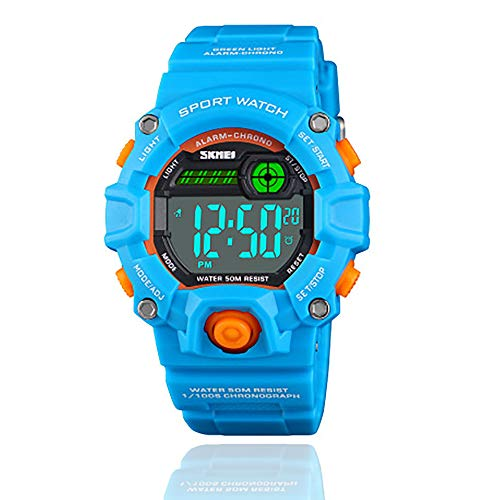 Sports Waterproof Digital Watches for Boys Girls, Best Gifts for Boys Girls Gifts for 3-12 Year Old Boys Girls Smart Watches Ages 3-12 Toys for 3-12 Year Old Boys Girls Blue (Presents For 9 Year Old Boy Nz)