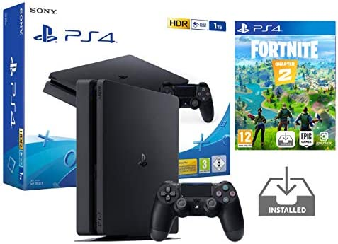 PS4 Slim 1Tb Negra Playstation 4 Consola Pack + Fortnite: Battle ...
