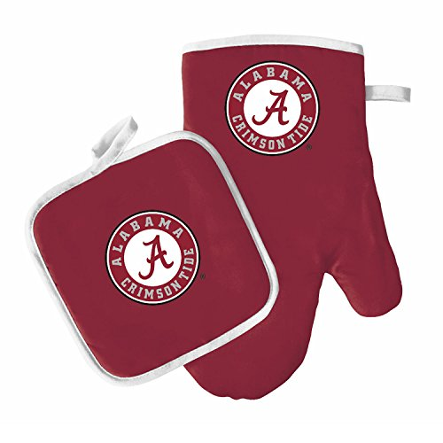 Oven Mitt and Pot Holder Set - Barbeque BBQ Kitchen Backyard Outdoors - NCAA - Alabama Crimson Tide ()