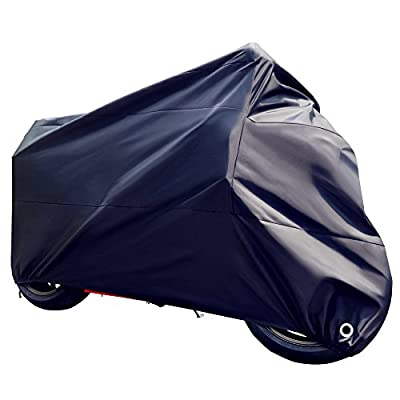 Tokept All-Weather Motorcycle Cover-Heavy Duty Extra Large Black for 104 Inch Motorcycles Like Honda, Yamaha, Suzuki, Harley. Keeps Your Bike Dry and Protected Year Round