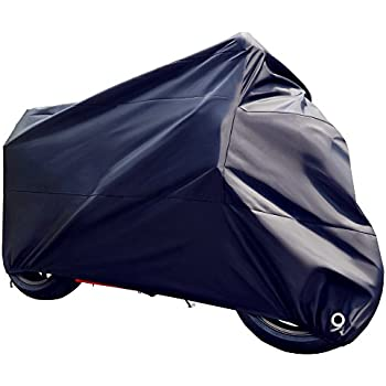 Tokept All Weather Motorcycle Cover Heavy Duty Extra Large Black For 104 Inch Motorcycles