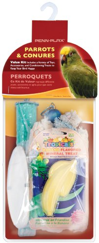 Bird Life Parrot & Conure Bird Cage Accessory Value Pack ()