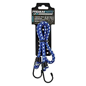 Fuerte Goma–8unidades–60cm de largo–8,0mm Diámetro.–, cada uno con 2ganchos de metal–Color: Azul