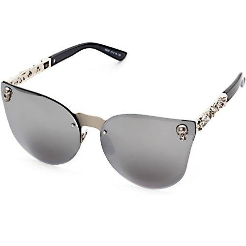 Fashion Mirrored W/ Flash Cateye Sunglasses for Women UV400 Cat Eye - Raw Eyewear
