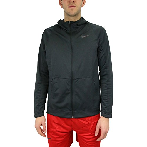 Nike Mens Hyper Elite Basketball Hoodie Sweatshirt Black/Heather Black 776091-032 Size Medium