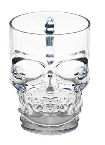 Forum Novelties Skull Mug Clear