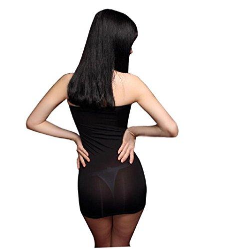 size Damen Wickel mehrfarbig Kleid Schwarz mehrfarbig Lazutom One xOYwqA1xv