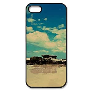 Beach Cave Watercolor style Cover iPhone 5 and 5S Case (Beach Watercolor style Cover iPhone 5 and 5S Case)