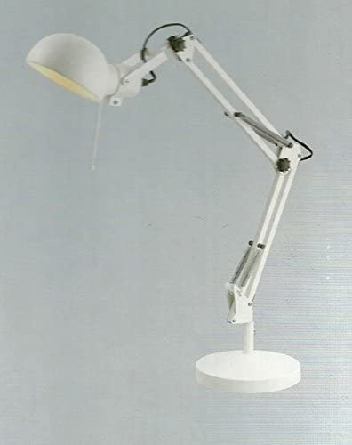 LAMPE EN METAL COULEUR blanche ARTICULEE ARCHITECTE SUR PIED