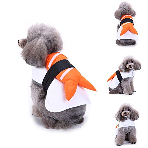 muxiLH Funny Salmon Sushi Pet Clothes Warm Wrap Dog Cat Halloween Christmas Costume - M ()