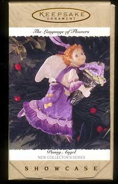 - 1996 Pansy Angel Language of Flowers Showcase #1 in series Hallmark Keepsake Ornament