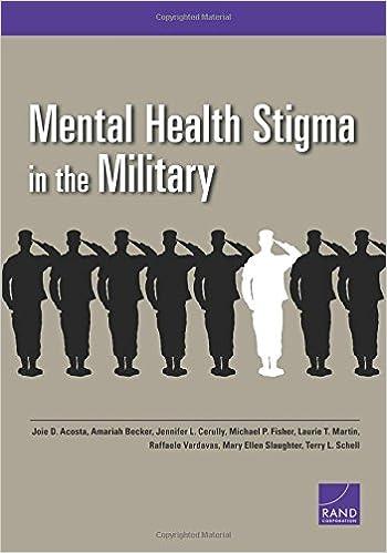 Amazon Com Mental Health Stigma In The Military 9780833085047