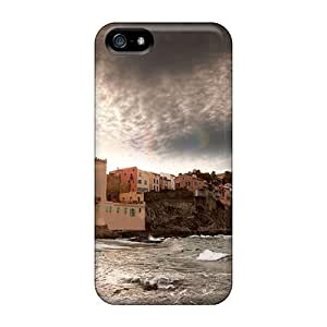 For Iphone 5/5s Premium Tpu Case Cover Sunrise On A Seaside Village Protective Case
