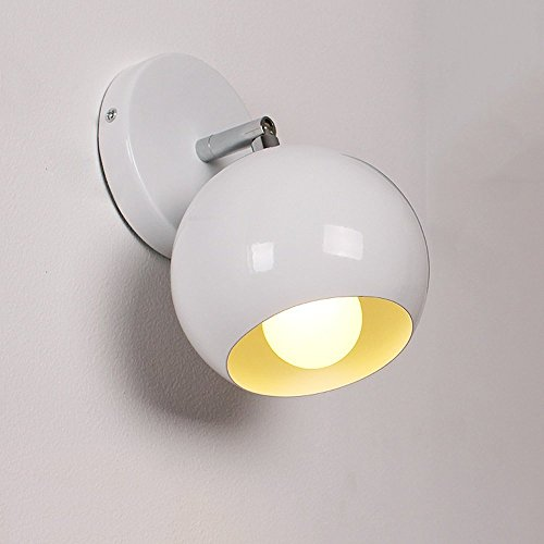 CGJDZMD Wall Sconce European Style Bedside Wall Light Fashion Creative LED Eye Protection Lights Student Children's Lamp Bedroom Desk Lighting 360 ° Rotating Wall Light, E27 Socket (Creative Student Interiors Desk)