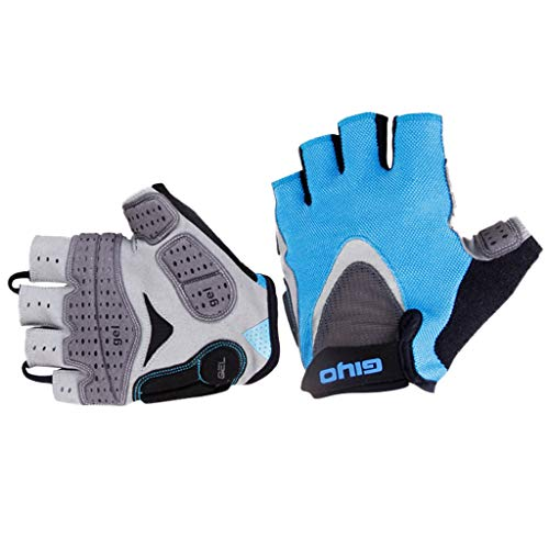 Price comparison product image Smdoxi Cycling Gloves Mountain Bike Gloves Bicycle Half Finger Riding Gloves with Cushions Men and Women Riding Gloves