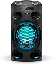 Mini System One Box Torre Sony Muteki MHC-V02D com CD, Conexão USB, Iluminação, Karaoquê e Bluetooth, Preto