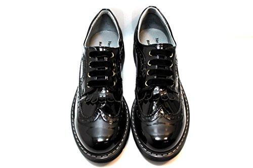 negro Nero cordones para Piel de Giardini Junior mujer Zapatos de qHqwI