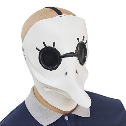 VJUKUBWINE Steampunk Domineering Plague Bird Mouth Doctor Mask Halloween Decoration Costume Mask Cosplay Full Head Mask Látex
