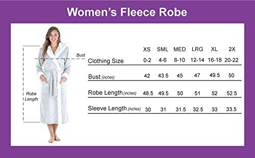 Sleepyheads Women's Fleece Long Sleeve Wrap Robe with Pockets