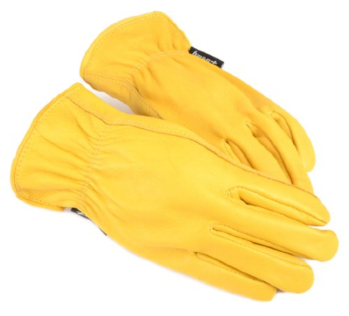 Forney 53061 Deerskin Leather Driver Premium Full Grain Men's Gloves, Large