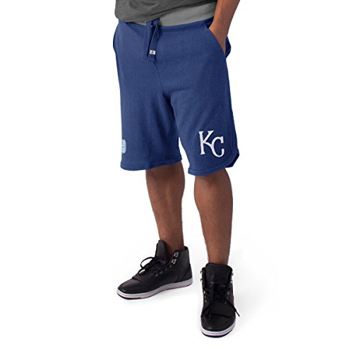 Kansas City Royals Shorts - MLB Kansas City Royals Men's '47 Post Up Shorts, Large, Bleacher Blue