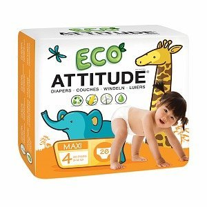 Attitude Eco-Friendly Baby Diapers, Maxi, Size 4, 26 ea 1 ea