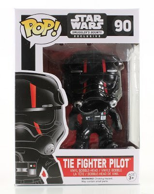 Star Wars Fighter Pilot (Star Wars Tie Fighter Pilot Red Stripe POP! Figure Smugglers Bounty Exclusive)