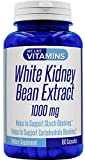 White Kidney Bean Max Strength 1000mg – 180 Capsules (Non GMO & Gluten Free) – Best Value White Kidney Bean Supplement on Amazon – Helps to Support Carbohydrate and Starch Blocking for Healthy Weight