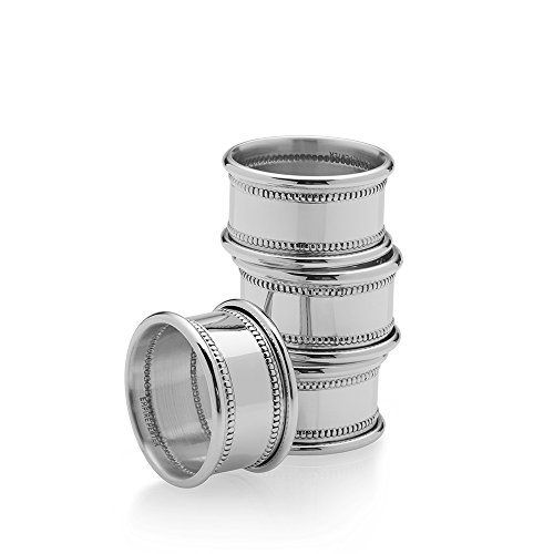 Empire Pewter Beaded Napkin Rings - Set of 4 by Empire Silver (Image #1)