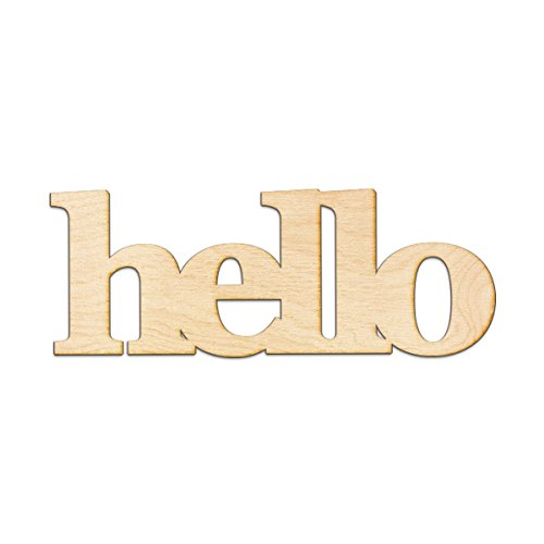 Hello Wood Sign Home Decor Gallery Wall Art Unfinished GIA 12