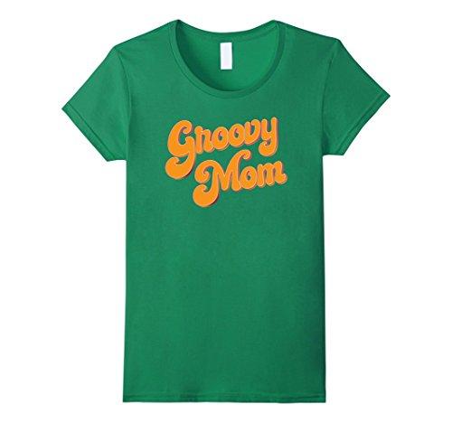 Retro 70s Fashion (Womens Womens Retro 70s Groovy Mom T-shirt Large Kelly Green)